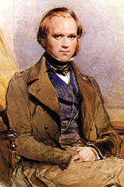 Charles Darwin, as painted by G. Richmond.